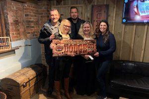 Charlotte, Jon, Julie, Boris and Sophia at the Escape Rooms